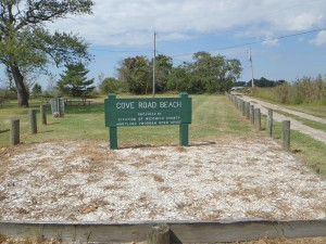 Cove Road Beach Sign