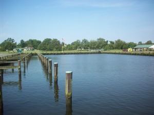 Slips at the Federalsburg Marina.