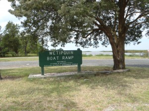 Wetipquin Boat Ramp Sign