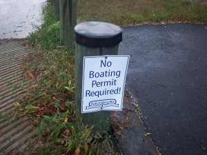 No boating permit required.