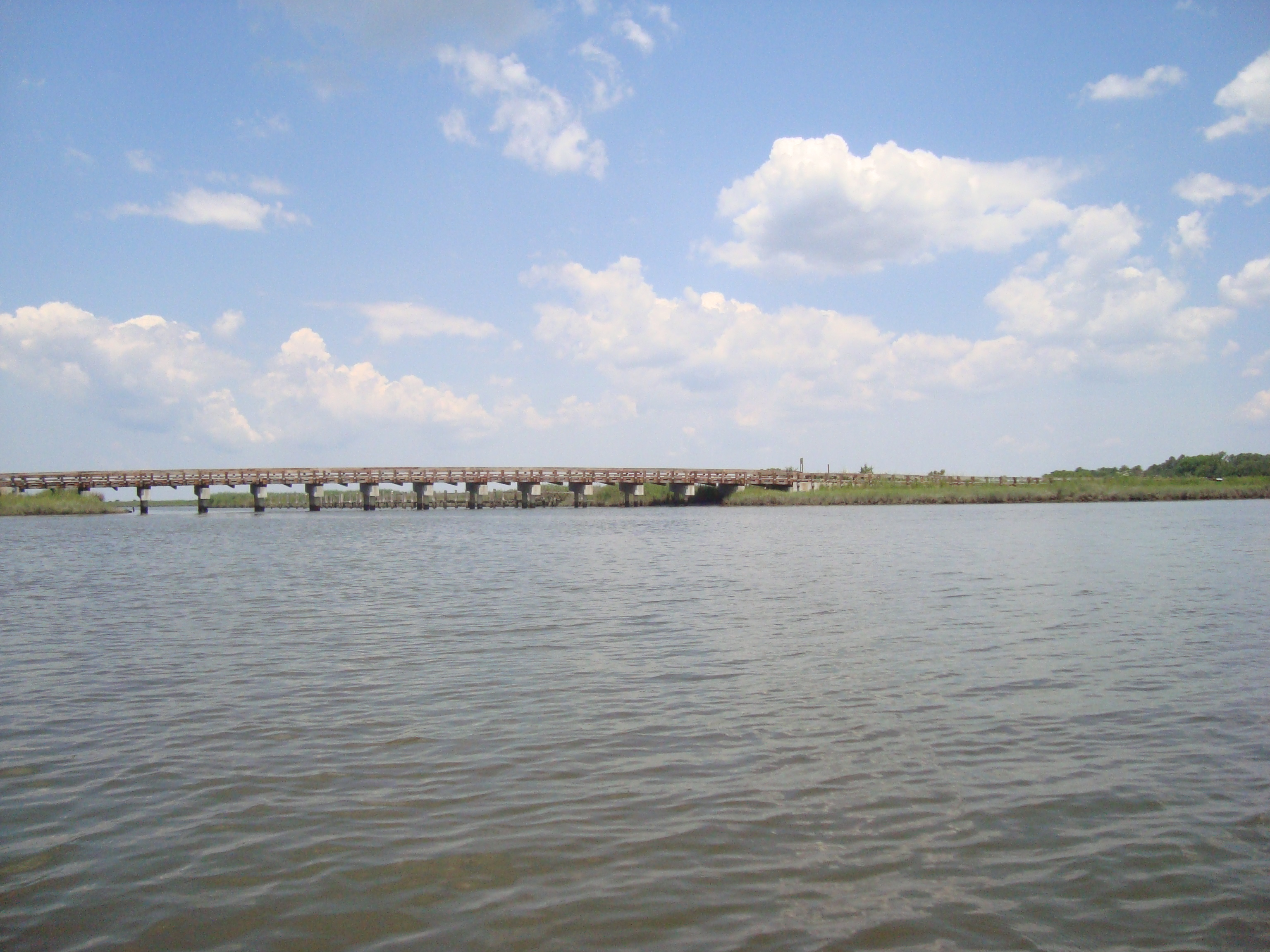 The Wetipquin Road bridge, as seen from upriver.