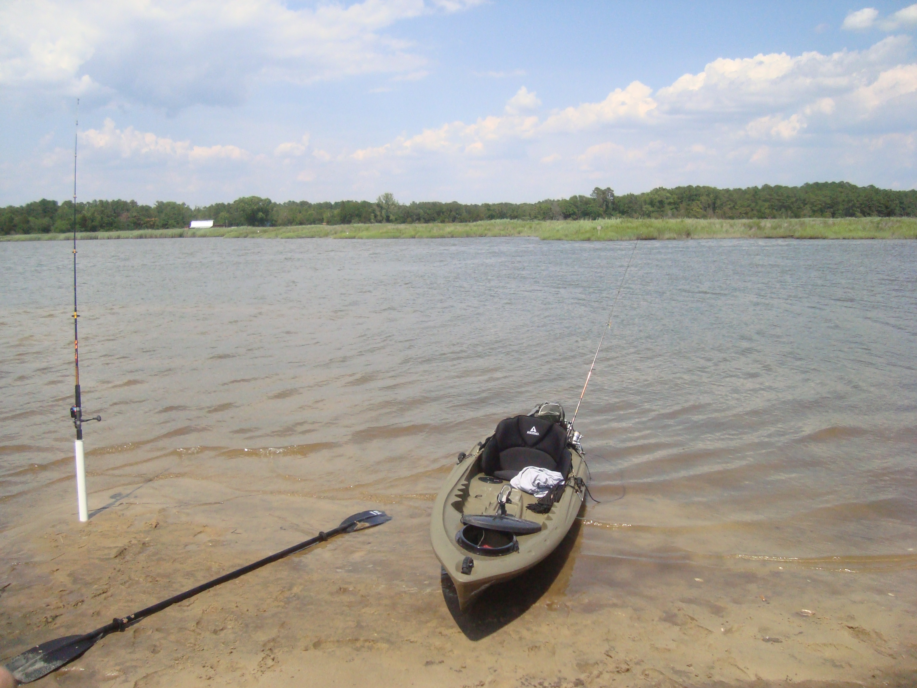 Fishing is regulated by different agencies, depending on where you are along the creek.