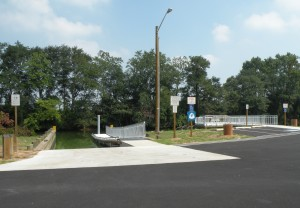 Accessible boat ramp and fishing pier