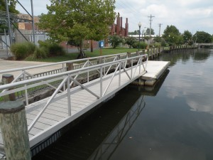 Floating dock at the Seaford Riverwalk