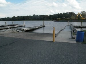 Boat ramps and floating docks at the Seaford Boat Ramp