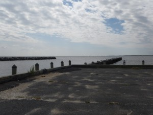 The view from the marina and boat ramp, looking out into Fishing Bay.