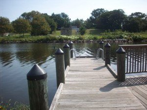 The Federalsburg Canoe and Kayak Launch also features a dock with ladders.