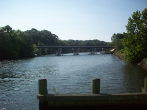 The Federalsburg Marina is near the MD Rt-313/318 bridge over the Marshyhope Creek.