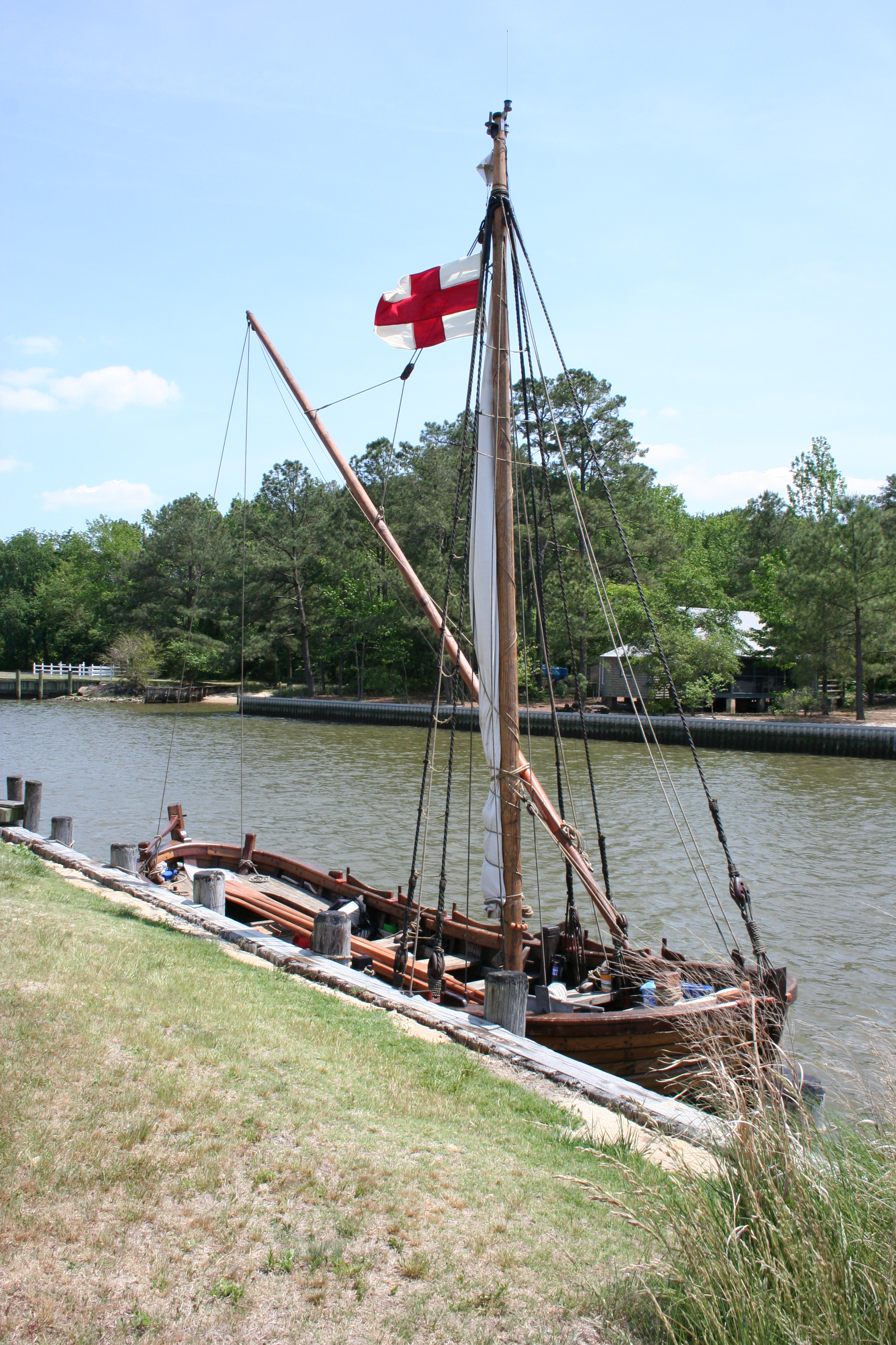 recreation of John Smith's Shallop - photo courtesy of Wicomico County Tourism
