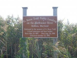 G. Reese Todd Public Landing Sign